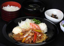 国産豚バラ肉の生姜焼き