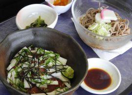 長芋あずま丼とミニ蕎麦・うどん